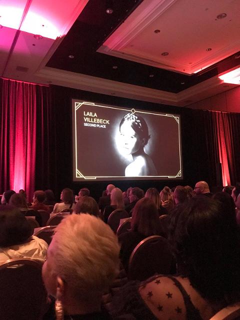 Live iPhone bild från awards ceremony WPPI Las Vegas 2018, andra plats i kategorin Children